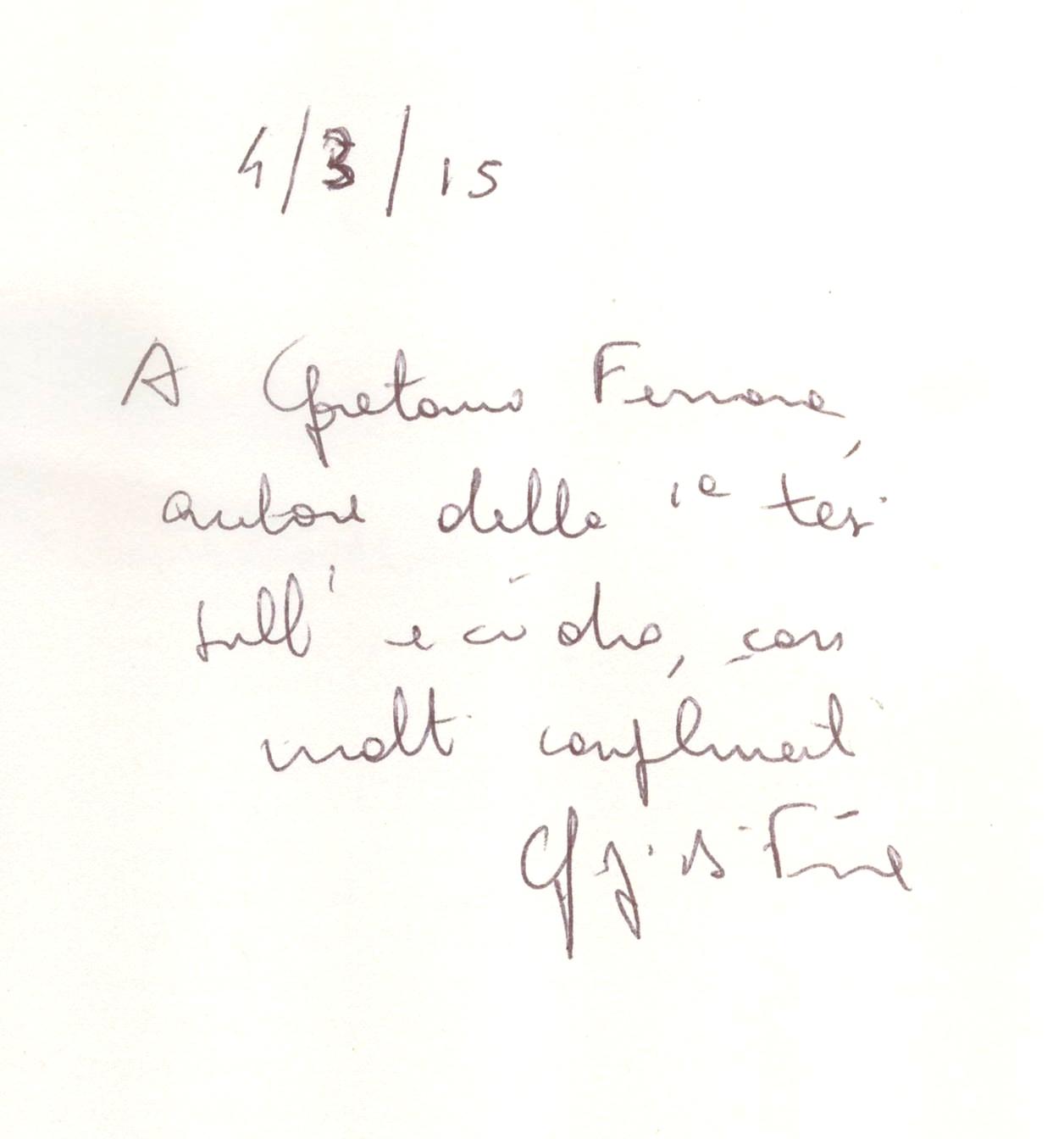Gigi Di Fiore alla Fondazione Gerardino Romano