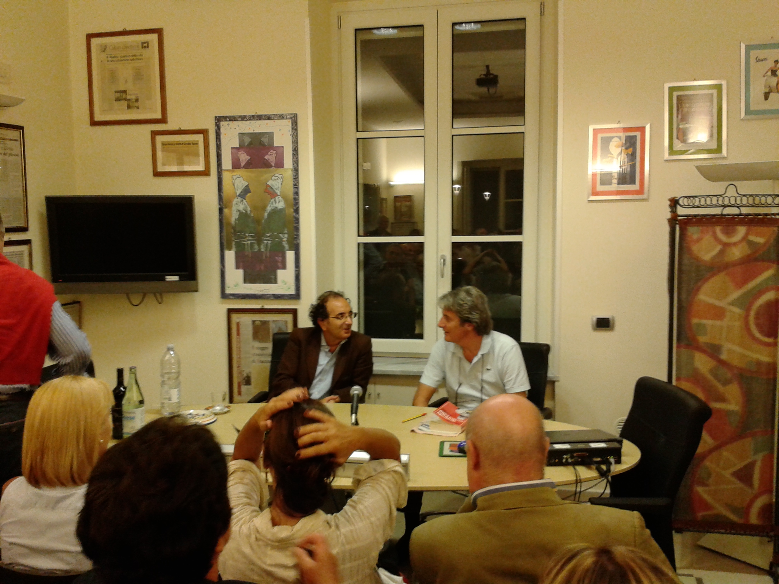 Gigi Di Fiore e Felice Casucci presso la fondazione Gerardino Romano