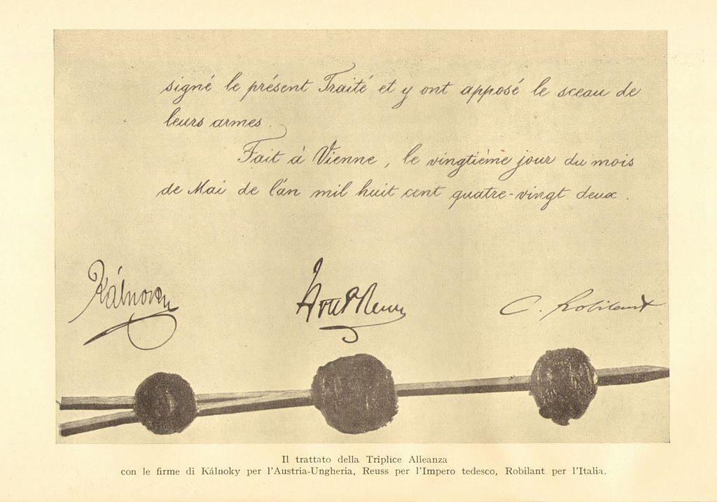 Firme sul trattato della Triplice Alleanza (1882)