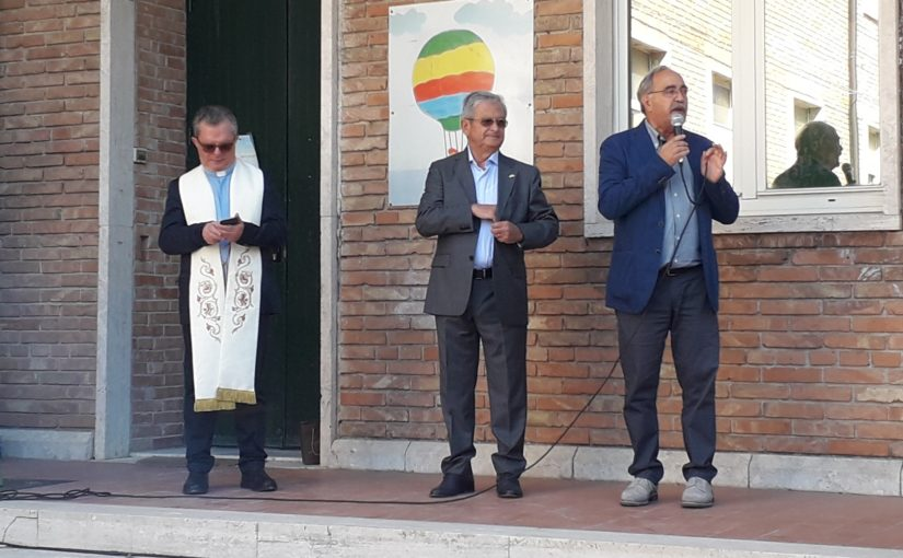 Don Giustino Di Santo, sindaco Floriano Panza, Luigi Pisaniello