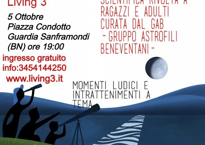 Astronomia a Guardia Sanframondi, il 5 ottobre – International Observe the Moon Night